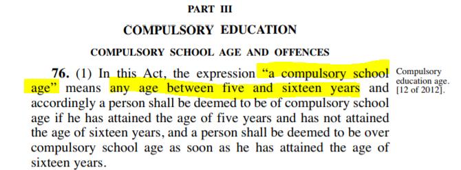 compulsory schage