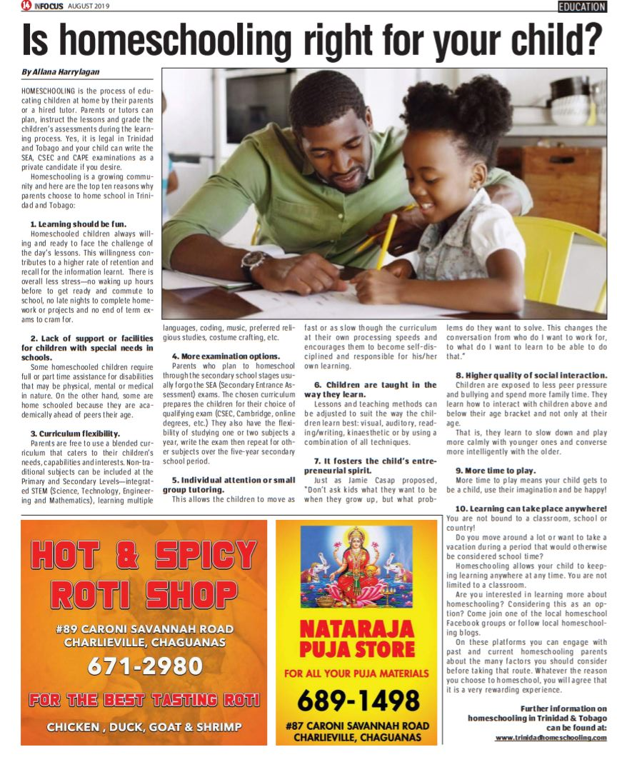 Homeschooling article by me
